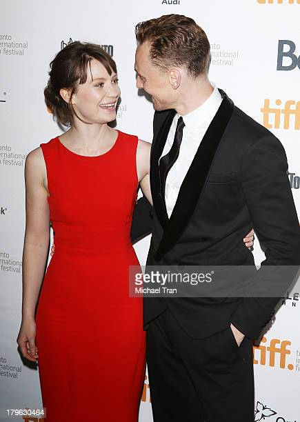 Mia Wasikowska and Tom Hiddleston arrive at the 'Only Lovers Left Alive' Premiere during the 2013 Toronto International Film Festival held at Ryerson...