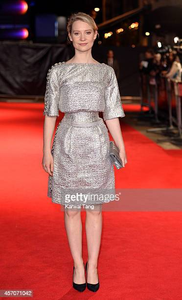 Mia Wasikowska attends a screening of 'Madame Bovary' during the 58th BFI London Film Festival at Odeon West End on October 11 2014 in London England