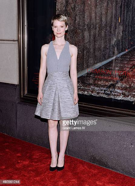 Mia Wasikowska attends the Bergdorf Goodman 'Crimson Peak' inspired window unveiling at Bergdorf Goodman on October 13 2015 in New York City