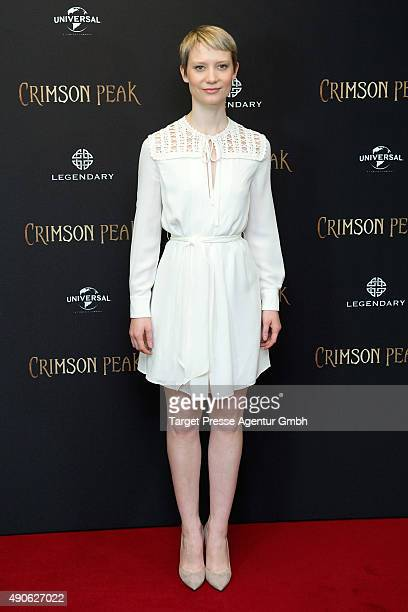 Mia Wasikowska attends the 'Crimson Peak' photocall at The Regent Hotel on September 30 2015 in Berlin Germany