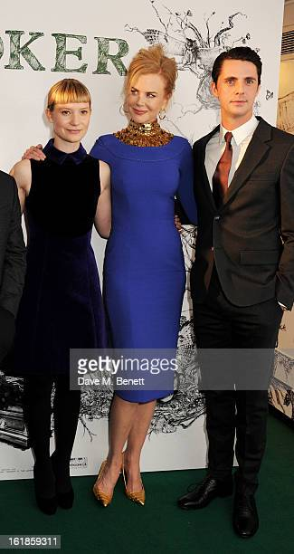 Mia Wasikowska Nicole Kidman and Matthew Goode attend a special screening of 'Stoker' at Curzon Soho on February 17 2013 in London England