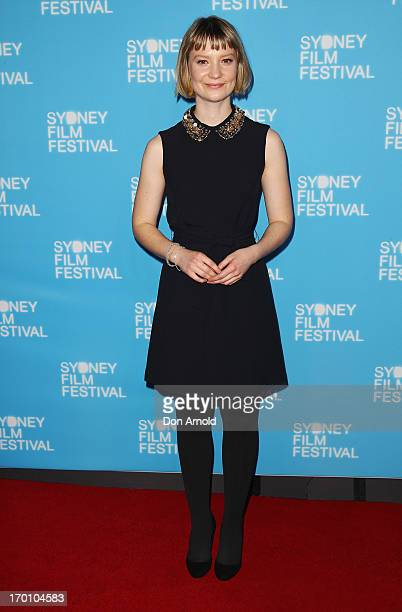 Mia Wasikowska poses at the Australian premiere of 'Stoker' at the State Theatre on June 7 2013 in Sydney Australia