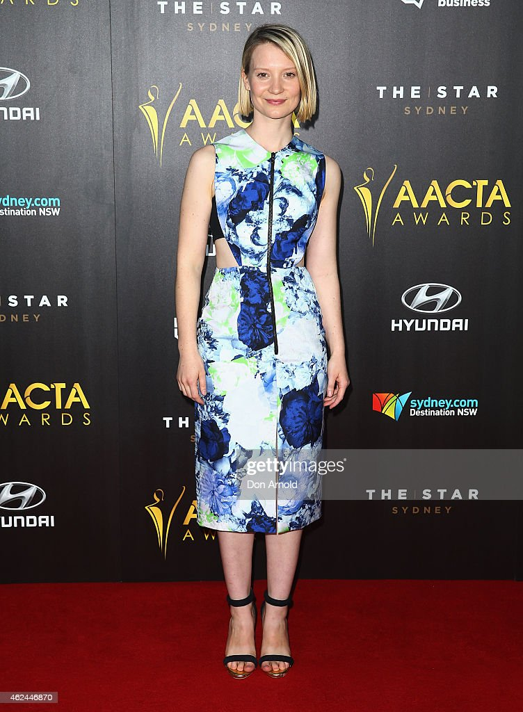 Mia Wasikowski arrives at the 4th AACTA Awards Ceremony at The Star on January 29 2015 in Sydney Australia