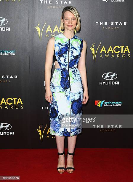 Mia Wasikowski arrives at the 4th AACTA Awards Ceremony at The Star on January 29 2015 in Sydney Australia