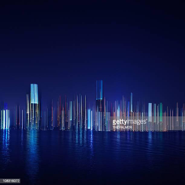 miami at night abstract
