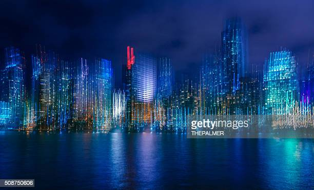 miami at night abstract