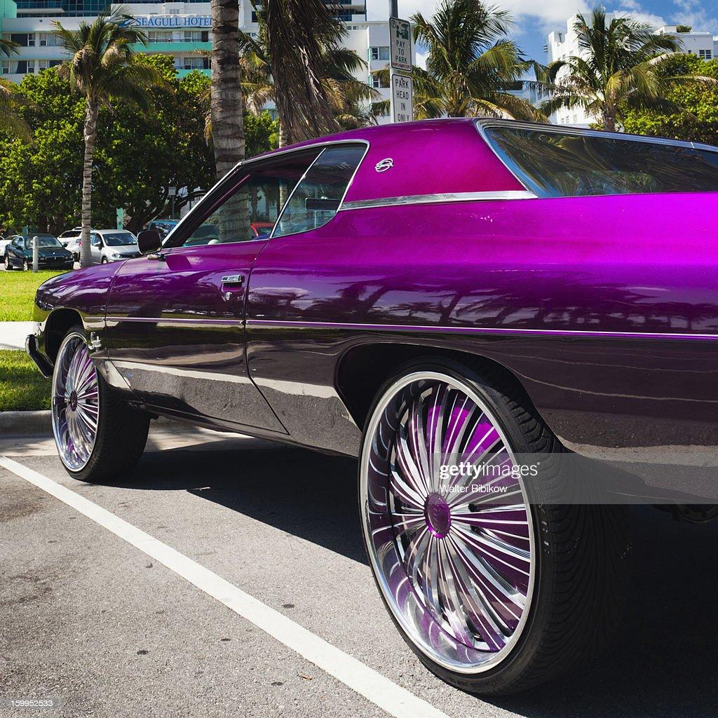 Miami Beach Fl Custom Car Stock Photo