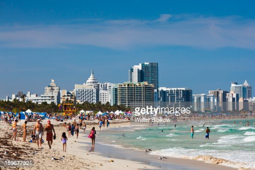 Miami Beach viewed from South Pointe Park