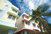 Miami Deco Drive Blue Sky Palms