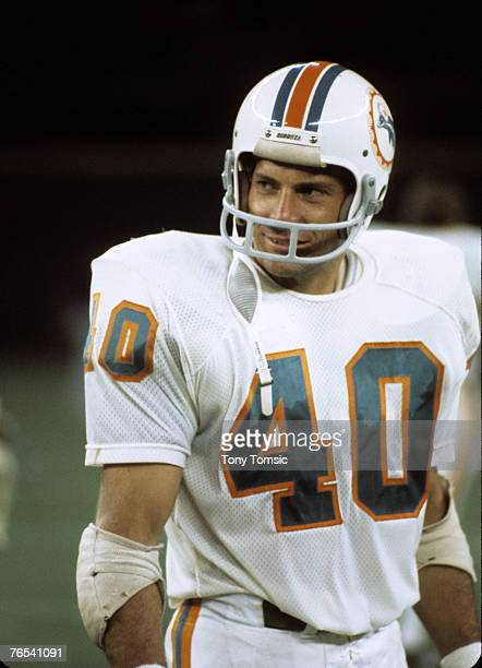Miami Dolphins safety Dick Anderson at a preseason game circa the early to mid1970s