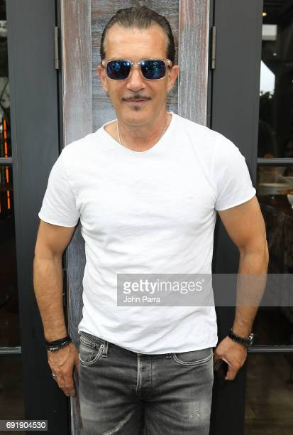 Miami Fashion Week Honorary President Antonio Banderas attend Miami Fashion Week Influencers Brunch at Quinto La Huella at East Hotel on June 3 2017...