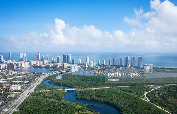 Miami Florida view from above