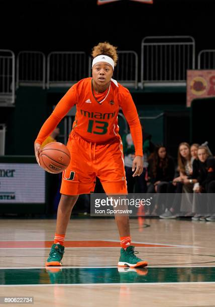 Miami guard Taylor Mason plays during a women's college basketball game between the University of Kentucky Wildcats and the University of Miami...