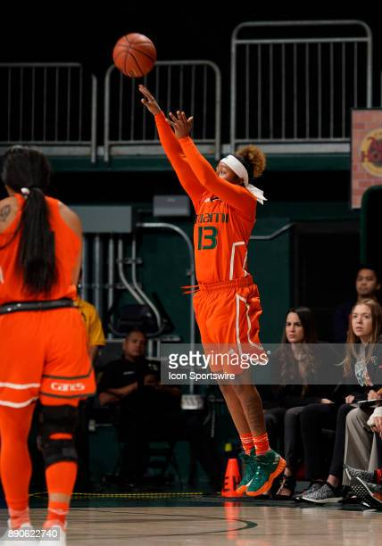 Miami guard Taylor Mason shoots during a women's college basketball game between the University of Kentucky Wildcats and the University of Miami...