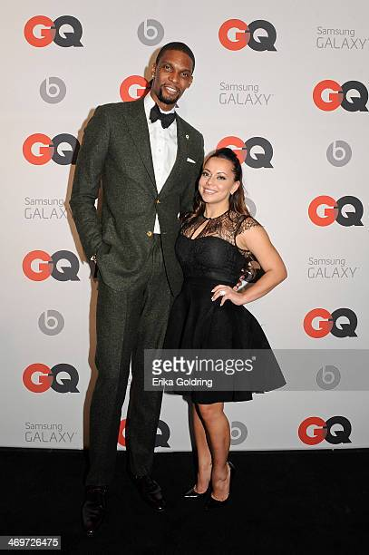 Miami Heat Forward center Chris Bosh and wife Adrienne Williams attend GQ LeBron James NBA All Star Party sponsored by Samsung Galaxy and Beats at...