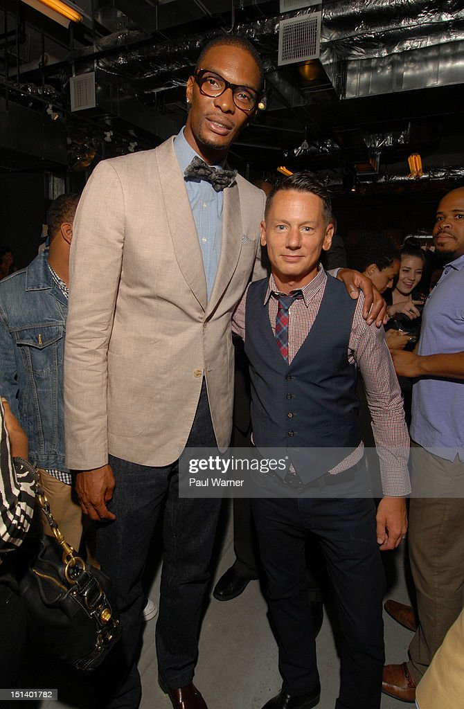 Miami Heat forward Chris Bosh and GQ editorinchief Jim Nelson appear at Nordstrom's Treasure Bond Store on September 6 2012 in New York City