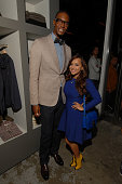 Miami Heat forward Chris Bosh and his wife Adrienne appear at Nordstrom's Treasure Bond Store on September 6 2012 in New York City