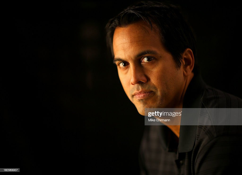 Miami Heat head coach Erik Spoelstra poses for a portrait during media on September 30 2013 in Miami Florida