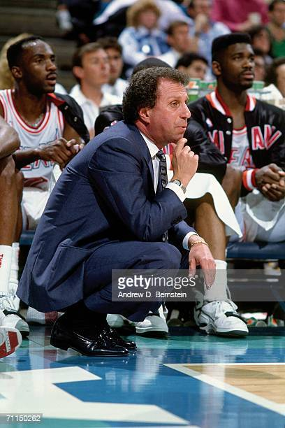 Miami Heat head coach Ron Rothstein looks on from the sidelines during a game at the Miami Arena during the19981989 season in Miami Florida NOTE TO...