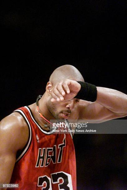 Miami Heat's Alonzo Mourning in game against the New York Knicks at Madison Square Garden