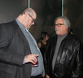 Miami Heats Andy Elisburg and owner Micky Arison during The Gentleman's Supper Club hosted by Chris Paul Dwyane Wade and Carmelo Anthony honoring...