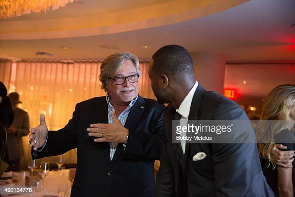 Miami Heat's owner Mickey Arison and Dwyane during dinner at Ocean Drive Magazine Celebrates its October Men's Issue with Dwyane Wade at StripSteak...