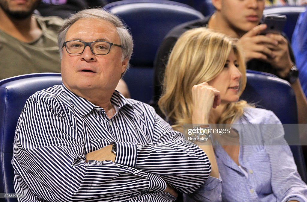 Miami Marlins owner Jeffery Loria looks on during the game between the Miami Marlins and the Arizona Diamondbacks at Marlins Park on May 4, 2016 in Miami, Florida. (Photo by Rob Foldy/Getty Images