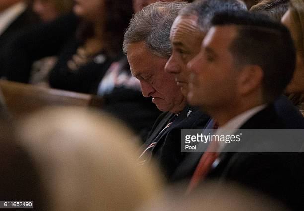 Miami Marlins owner Jeffrey Loria during the funeral for Jose Fernandez at St Brendan's Catholic Church on September 29 2016 in Miami Florida