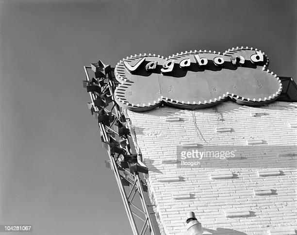 マイアミのレトロなヴィンテージのネオン看板 Vagabond モーテル
