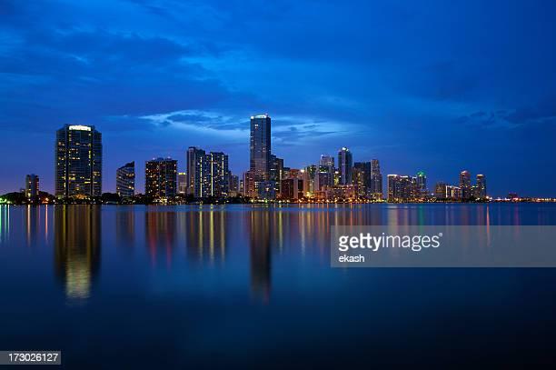 Miami Skyline in twilight