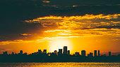 Sunset in Miami.