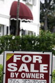 A house for sale by owner is seen 27 March 2007 in Miami Florida The latest reports on new home sales issued by the Commerce Department reported...