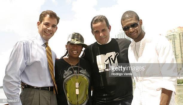 MiamiDade County Mayor Alex Penelas Missy Elliott Miami Mayor Manny Diaz and Usher