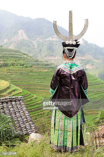 Miao Girl's Silver Headwear And Clothes
