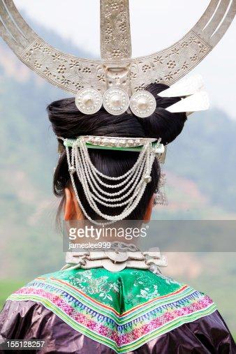 Miao Girl's Silver Headwear