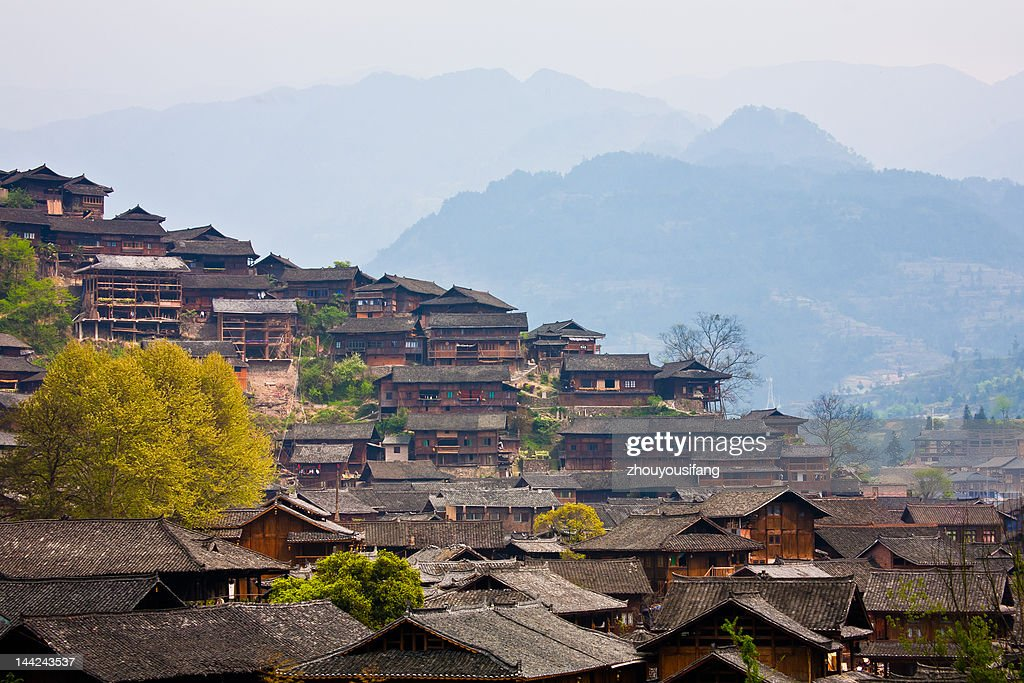 Miao Nationality Village : Stock Photo