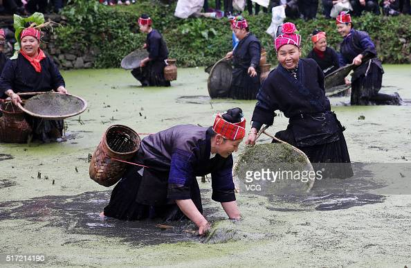 Miao people celebrate sisters festival in qiandongnan for People catching fish