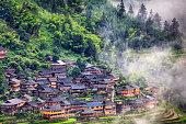 Miao Village in the mountains, Jiabang Guizhou China