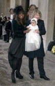 Mica Paris and Baby Russia Mae during Mica Paris Baby Christening at St George's Church in London United Kingdom