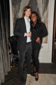 Mica Paris and guest attend the Amy Winehouse Foundation drinks reception at Dover St Arts Club on June 16 2013 in London England