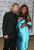 Mica Paris and guest during The Berkeley Square Ball Arrivals at Berkeley Square in London Great Britain