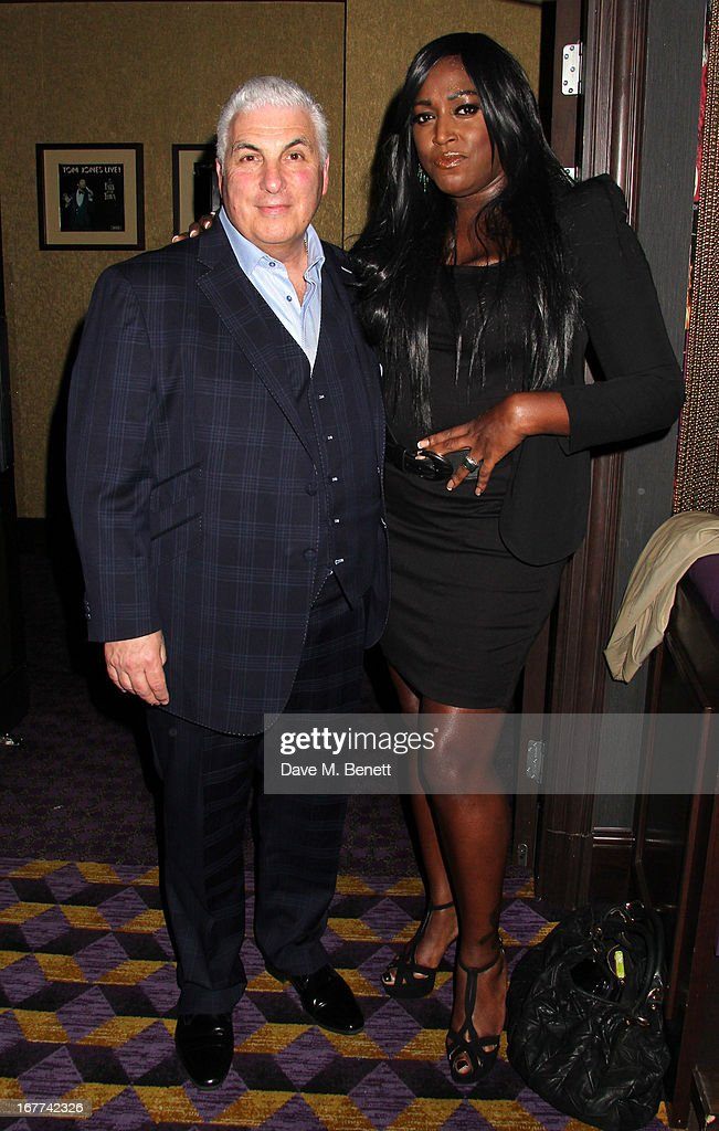 Mica Paris and Mitch Winehouse attend an evening in aid of the 'Amy Winehouse Foundation', at the hippodrome, on April 28, 2013 in London, England.