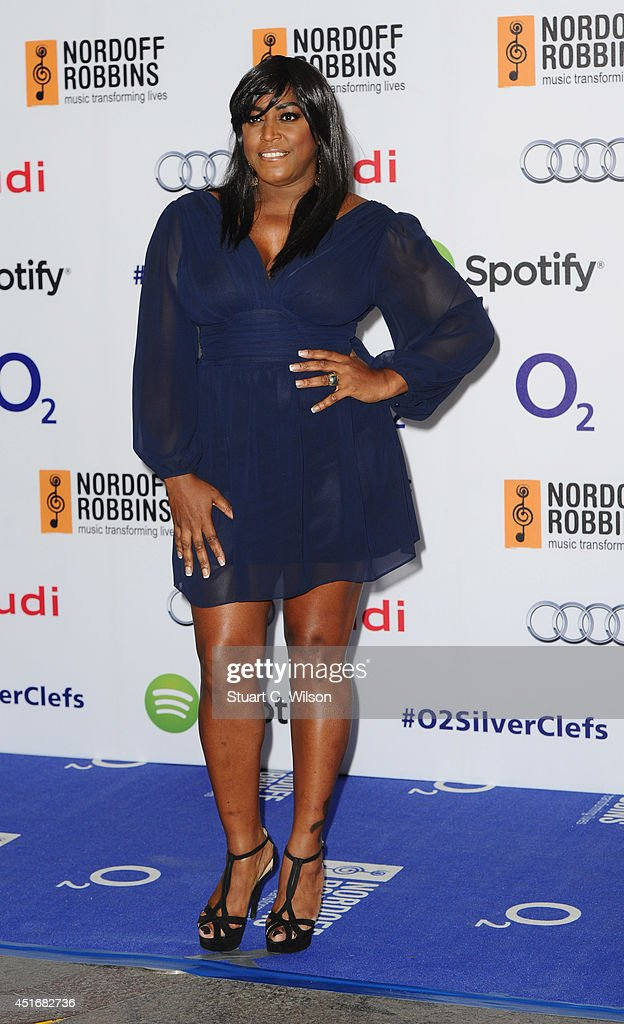 Mica Paris attends the Nordoff Robbins 02 Silver Clef awards at London Hilton on July 4, 2014 in London, England.