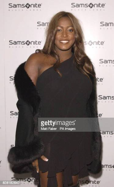 Mica Paris attends the Samsonite Premium Black Collection launch party at The Gymnasium St Pancras central London Thursday 20 October 2005 PRESS...