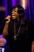 Mica Paris performs at 'An Evening With Mitch Winehouse' in aid of the Amy Winehouse Foundation at The Hippodrome on April 18 2014 in London England
