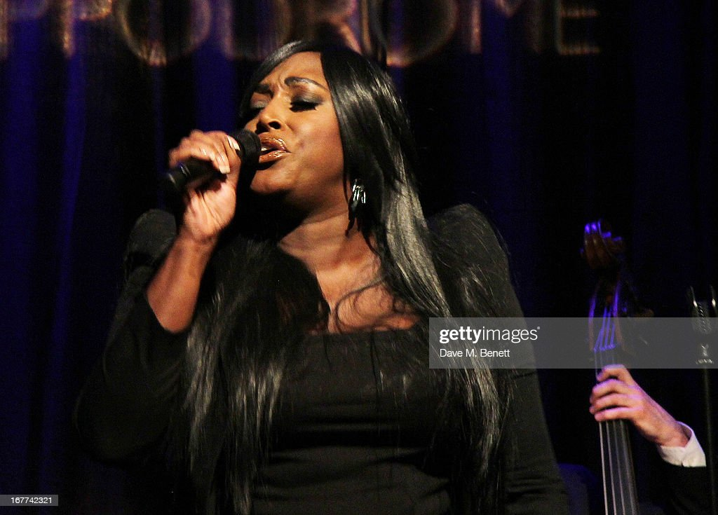 Mica Paris performs during an evening in aid of the 'Amy Winehouse Foundation' hosted by Mitch Winehouse, at the hippodrome, on April 28, 2013 in London, England.