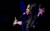 Mica Paris performs live on stage during the Hunger Project Concert at the Apollo Victoria on January 9 2011 in London England The Hunger Project is...