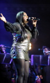 Mica Paris performs on stage during 'For Dusty A Tribute' concert in aid of MacMillan Cancer Support at Royal Albert Hall on May 5 2011 in London...