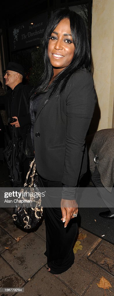 Mica Paris sighting at The Dorchester Hotel on November 20, 2012 in London, England.