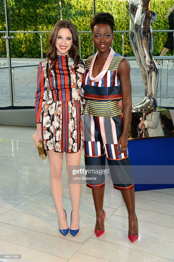 Micaela Erlanger (L) and actress <a gi-track='captionPersonalityLinkClicked' href=/galleries/search?phrase=Lupita+Nyong%27o&family=editorial&specificpeople=10961876 ng-click='$event.stopPropagation()'>Lupita Nyong'o</a> attends the 2014 CFDA fashion awards at Alice Tully Hall, Lincoln Center on June 2, 2014 in New York City.